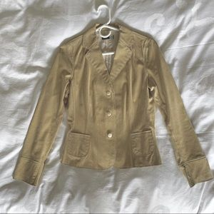 Saks Fifth Avenue light, buttery soft suede jacket